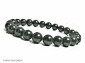 Grey Green South Sea Shell Pearls Stretch Bracelet | Silver Sensations